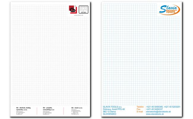Výroba firemných písacích blokov